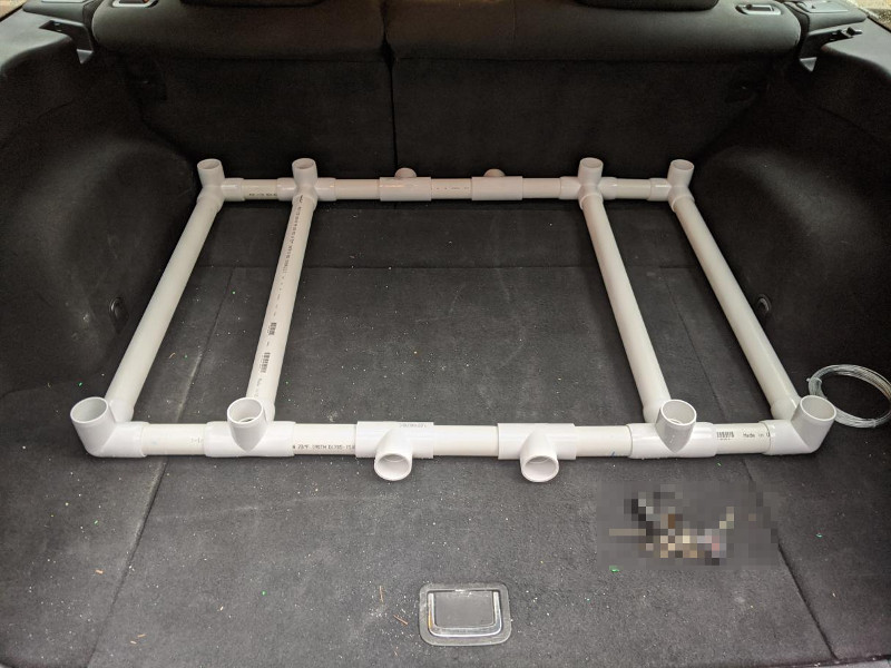 Rack without cylinders or gear bag